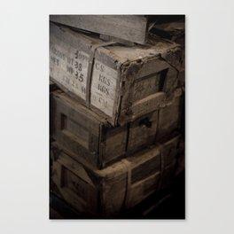 Antique Crates Canvas Print