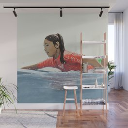 Roxy surf girl Wall Mural