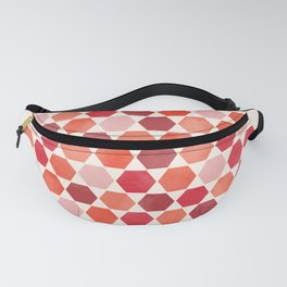 Red Tiles Fanny Pack