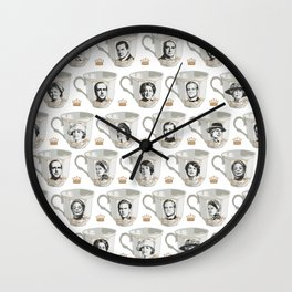 Downton abbey tea party pattern - victorian style porcelain - family - movie Wall Clock