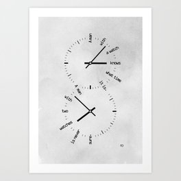 Two Watches Art Print