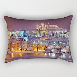 Prague-winte night Rectangular Pillow