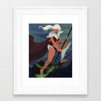 monster hunter Framed Art Prints featuring Monster Hunter by Ian Moore