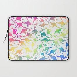Kangaroo rainbow , tie dye , pastel Laptop Sleeve