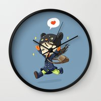 happiness Wall Clocks featuring Happiness by Freeminds