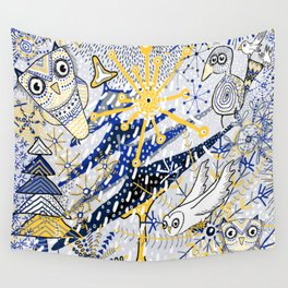Winter Mod Limited Color Palette Wall Tapestry