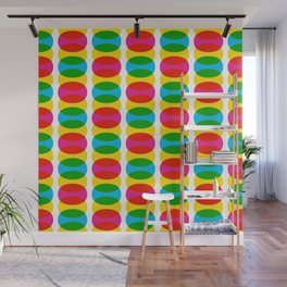 Geometric Pattern 256 (colorful ovals) Wall Mural