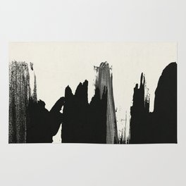 Black Paint Layers Rug