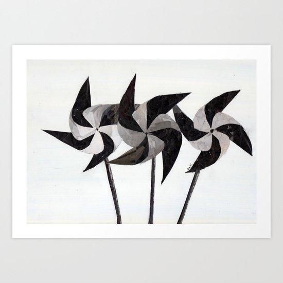 WHITEOUT:  pinwheeling around Art Print