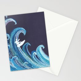 Go with the wave Stationery Cards