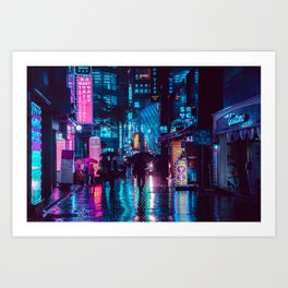 Myeongdong at night Art Print