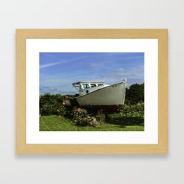 Retired Lobster Boat Framed Art Print