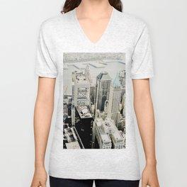 NEW YORK 1 Unisex V-Neck