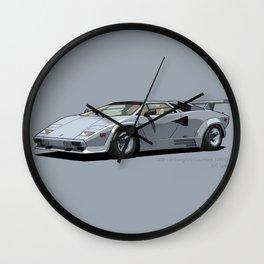 Lamborghini Countach 5000QV Argento Luna (US spec) Wall Clock