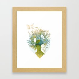 Spring birds Framed Art Print