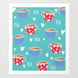 Love Tea Art Print