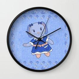 Bunny Doll Wall Clock