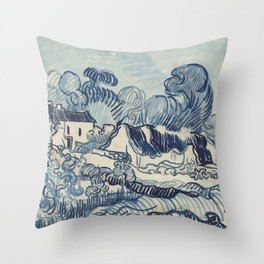 Landscape with Houses Throw Pillow