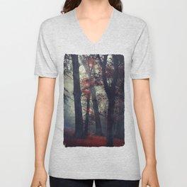 feel unreal - magical forest scene Unisex V-Neck