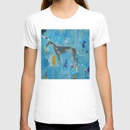 Greyhound Dog Abstract Painting T-shirt