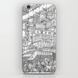 Hong Kong. Kowloon Walled City iPhone Skin