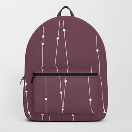 Contemporary Intersecting Vertical Lines in Mulberry Backpack