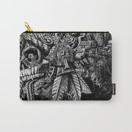 Aztec Great Lizard Warrior 1 (Triceratops) Carry-All Pouch