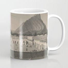 Vintage Monterrey Mexico Pictorial Illustration (1846) Coffee Mug