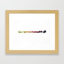 Blueberry Gradient (Horizontal) Framed Art Print