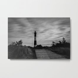 Stormy Fire Island Lighthouse Metal Print