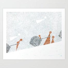Shoulder to the Wheel II Art Print