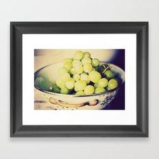 Fruit Bowl of Grapes Framed Art Print