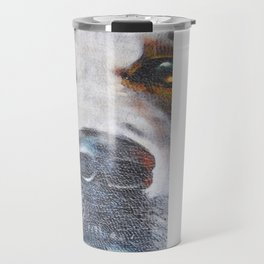 Few flowers as a tribute to the Loukanikos dog from Elisavet Travel Mug