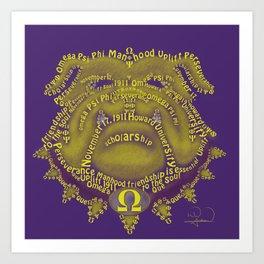 Omega Psi Phi Art Print