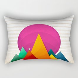 067 - Autumn sunrise Rectangular Pillow
