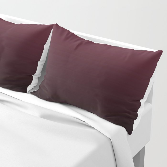 Burgundy Wine Ombre Gradient Pillow Sham