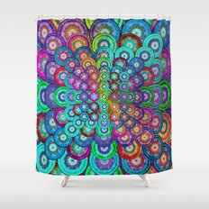 Multicolor Dots Pyramid Shower Curtain