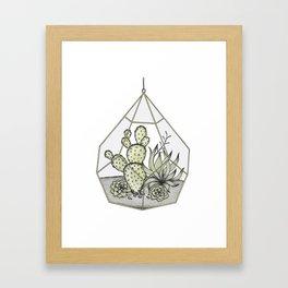 Succulent Terrarium Framed Art Print