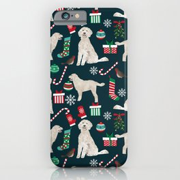 Golden Doodle unique christmas gifts for dog person dog breed pet portraits by pet friendly iPhone Case