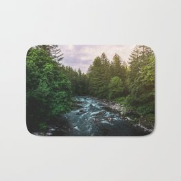 PNW River Run II - Pacific Northwest Nature Photography Bath Mat