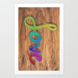 String love Art Print
