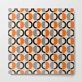 Mid Century Half Circle Pattern 121 Metal Print