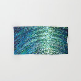 Shimmerin Ocean Wave Reflections Hand & Bath Towel