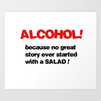 alcohol Art Prints featuring alcohol by Sava Miskovsky
