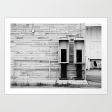Old Soldiers in Black & White Art Print