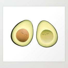 Avocado Friends Art Print