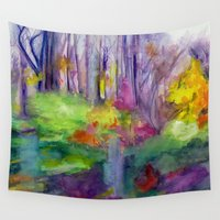 vermont Wall Tapestries featuring VERMONT by Shayna Carolyn