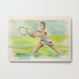 Rafael Nadal Pro Tennis Player Metal Print