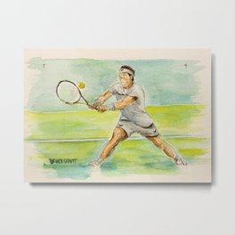 Rafael Nadal Pro Tennis Player Metal Print