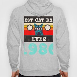 Best Cat Dad Ever 1986 34th Birthday Cassette Tape Vintage T-Shirt Hoody